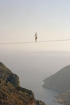 Up above - slacklining perfection