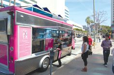 Gotta love a pink food truck--I don't care what they're serving.