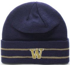462216dcf4691d Amazon.com: NCAA Washington Huskies Winter Beanie Knit Hat Cap Gorra (One  Size