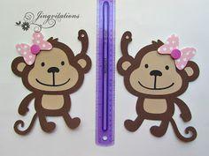 Monkey Banner for Baby Shower  #silhouettecameo #cricut #banner #monkey #birthday #babyshower  #jingvitations