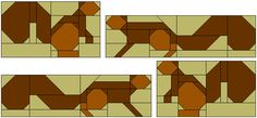 Study of squirrels by Lorna at sewfreshquilts.blogspot.com, April 2015 - paper pieced patterns
