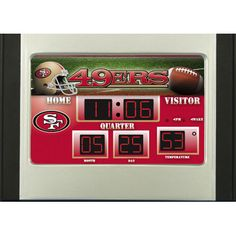 Team Sports America NFL Scoreboard Desk Clock NFL Team: San Francisco 49ers