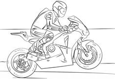 Racing Motorcycle coloring page from Motorcycles category. Select from 25283 printable crafts of cartoons, nature, animals, Bible and many more.