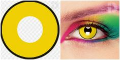 These Mad Hatter contact lenses are crazy in design and will help give a real wow factor to your costume.