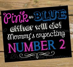 This pregnancy announcement printable for your 2nd baby is the perfect way to announce