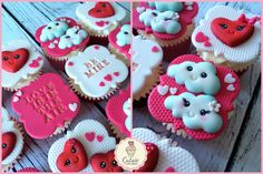 Cutsie Cupcakes - Pretty Kawaii style Valentines Day Cupcakes. Love is in the Air themed