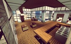 Modern Minecraft Home Interior