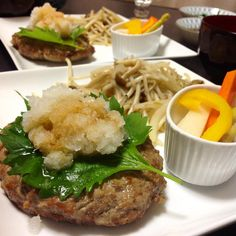 Japanese Hamburger with Radish