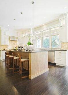 Grey Flooring Kitchen Natural Wood Cabinets Http Www
