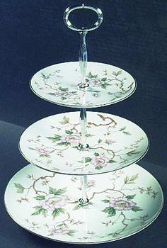 Noritake Chatham 3 tiered serving plate for heavenly tea parties