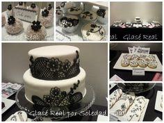 Mesa dulce en blanco y negro