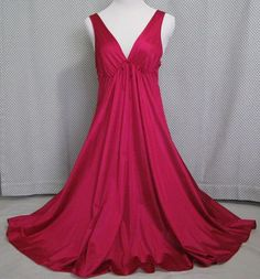 71e2e181aadf Nightgown Waltz Length Lg Raspberry Red Lingerie