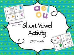 Fun short vowel matching game!
