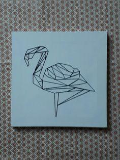 Broderie origami en suivant le tuto de Caro Tricote pour Créative Magazine