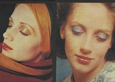 Experimental Colors for the Seventies Face from the palette of Christian Dior in 1970s Makeup, Dior Makeup, Vintage Makeup, Vintage Beauty, Makeup Cosmetics, 70s Aesthetic, Aesthetic Makeup, Pale Face, Dior Beauty