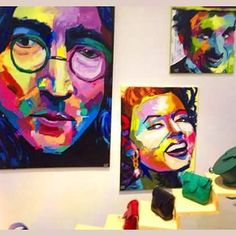 My paintings displayed at the first floor store at Alexandria  #art #artist #artwork #abstract #painting #portrait #art_empire #art_help #art_spotlight #acrylic #acrylicpainting #francoiseniellyinspired #creative #colorful #firstfloor #alexandria