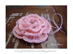 4-tiered crochet flower
