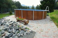 Outdoor pool at the Pezion Anička Outdoor Pool, Outdoor Decor, Patio, Vacation, Mountains, Nice, Places, Home Decor, Outdoor Swimming Pool
