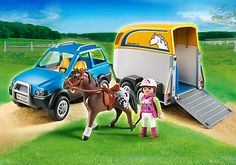 SUV with Horse Trailer - PM USA PLAYMOBIL® USA