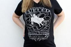 Fueled By American Whiskey V-Neck Tee