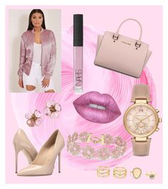 """golden rose--"" by belma01 ❤ liked on Polyvore featuring Massimo Matteo, Michael Kors, BaubleBar, LULUS, Chanel, Lime Crime and NARS Cosmetics"