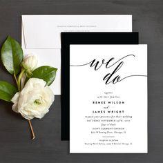 We Do Wedding Invitations by Emily Buford | Elli