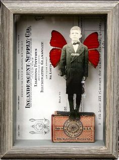 ⌼ Artistic Assemblages ⌼  Mixed Media & Collage Art - Stephanie Rubiano - amazing butterfly boxes