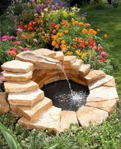 DIY Gartenbrunnen Landschaftsbau Ideen , A List of DIY Garden Fountain Landscaping Ideas with Instructions. Water feature provides vitality, its soothing sound of flowing water has been a fea. Diy Water Feature, Backyard Water Feature, Ponds Backyard, Backyard Retreat, Garden Ponds, Koi Ponds, Large Backyard, Small Patio, Backyard Patio