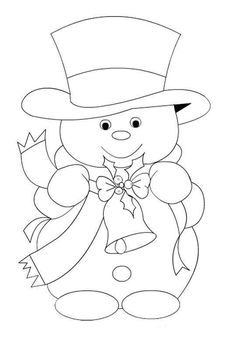Christmas Coloring Pages - Snowmansnowman-embroidery pattern-best one yet Maiskeep for xmas ornaments pattern from wood for JeanRisultato immagini per riscos patch apliqueSnowman and Top Hat Christmas Images, Christmas Colors, Christmas Art, Christmas Projects, Christmas Decorations, Christmas Patterns, Xmas Ornaments, Christmas Holidays, Christmas Coloring Pages
