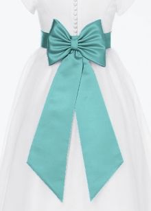 Flowergirl sash with bow