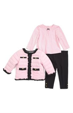 Little+Me+Jacket,+Top+&+Leggings+(Baby+Girls)+available+at+#Nordstrom