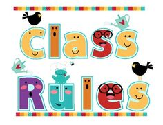 This is a great set of printable class rules to put up and display in your classroom.