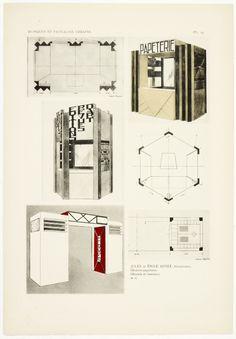 Kiosques & pavillons urbains destinés à l'Exposition internationale des arts décoratifs modernes, Paris 1925 -