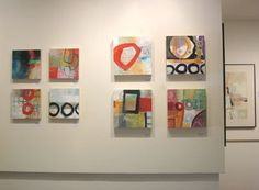 I just hung my show at the Canfield Gallery , in Arlington, Vermont. I'm calling it Pattern and Process , and now I have it up online ! Vi...