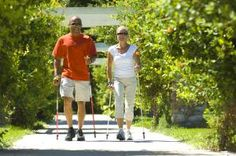 How to Burn More Calories When You Walk: Nordic Walking Couple