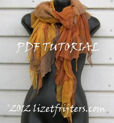 Instant Download PDF Feltmaking tutorial - Nuno Felted Scarf - Seaweed - DIY - How to Make It Yourself via Etsy