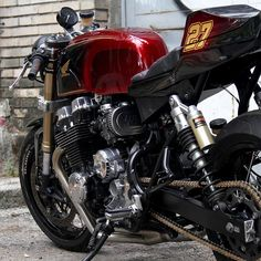 The nineties weren't kind to Honda's CB750. Thankfully custom building is all about seeing potential and @nitrocycles_es in Spain  have a knack for it. More details at returnofthecaferacers.com ... #caferacer #twowheels #motorcycle #custom #honda #cb750