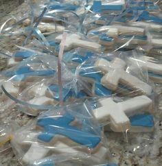 Cross sugar cookies - Christening
