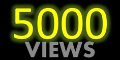 5000+ Youtube views With refill guarantee