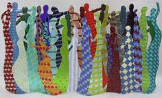 """""""Conversations"""" by Lesley Nolan  40"""" wide by 24"""" high by 6"""" thick. This is an example of fusing  - warming different sheets and strips of glass just enough to get the pieces to fuse together, which takes quite a while."""