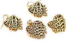 """Exkluzívna súprava náušnice, prívesok a prsteň """"hearts of leopard"""""""