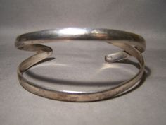 Nice Modernist Sterling Silver Cuff Bracelet LAST CHANCE RETURNS ACCEPTED