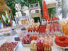 This is an interesting variety for a sweet table! Mexican Candy Table, Mexican Snacks, Mexican Party, Dessert Buffet, Candy Buffet, Dessert Bars, Dessert Bar Wedding, Candy Bar Wedding, Wedding Reception