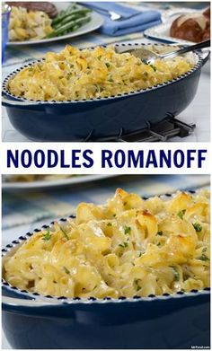 Noodles Romanoff This creamy and versatile egg noodle dish pairs great with just about any entree. Plus, they're so scrumptious we bet even your picky eaters can't resist. So, next time you're in need of an easy side dish pick our Noodles Romanoff. Pasta Side Dishes, Pasta Sides, Side Dishes Easy, Side Dish Recipes, Food Dishes, Egg Noodle Side Dish, Egg Noodle Dishes, Rice Dishes, German Side Dishes
