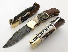 Small Pocket Knives, Folding Pocket Knife, Folding Knives, Damascus Steel Pocket Knife, Damascus Knife, Rambo Knife, Antler Knife, Collector Knives, Steel Gifts