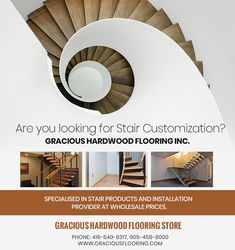 Are you searching for Stair Customization Brampton, Gracious Hardwood Flooring Inc. have over 10 years of experience in providing custom crafted stairs in Brampton. PHONE: 416-540-8317, 905-458-8000 EMAIL: GRACIOUSHARDWOOD@YAHOO.COM Cheap Hardwood Floors, Flooring Store, 10 Years, Searching, Stairs, Phone, Home Decor, Stairway, Telephone