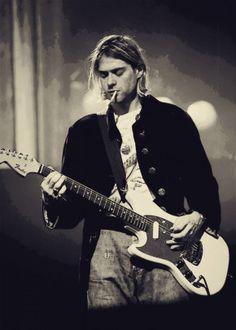 boys Vintage photograph of Kurt Cobain - Live in concert Nirvana Kurt Cobain, Kurt Cobain Photos, Kurt Cobain Art, Pop Rock, Rock N Roll, Banda Nirvana, Nirvana Band, Eddie Vedder, Poster S