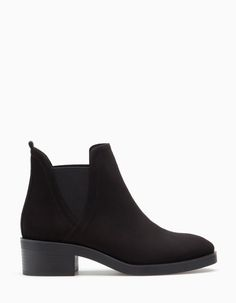 Elasticated ankle boots - All Cute Ankle Boots, Black Ankle Boots, Black Shoes, Pretty Shoes, Beautiful Shoes, Cute Shoes, Bootie Boots, Shoe Boots, Shoes Sandals