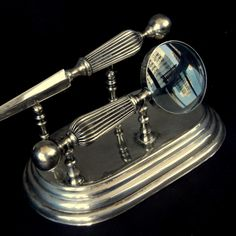 $139.00  **  $ 139.00 ** Magnifying Glass and Letter Opener Silver Plate Desk Set with stand / Vintage / Office, Library, Den https://www.etsy.com/listing/120212070/magnifying-glass-and-letter-opener     http://www.eclectibleparts4U.etsy.com http://www.sparepartsjewelry.etsy.com http://www.looseparts.etsy.com