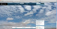 The Frost website homepage which features a different customer submitted photo each day.